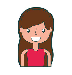 beautiful icon girl vector image