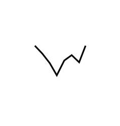 Line chart icon vector