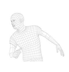 Wire frame mans head vector