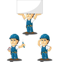 Technician or repairman mascot 8 vector