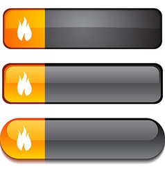 Fire button set vector