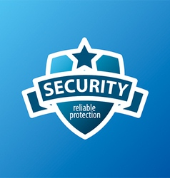 Logo for security services in the form of shield vector