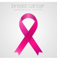 Breast cancer awareness pink ribbon tape design vector