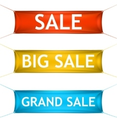 Big grand sale banners vector