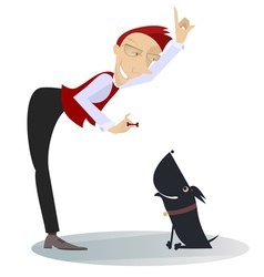 A dog trainer vector