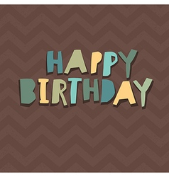Happy birthday card design paper cut alphabet vector