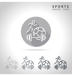Sports outline icon vector