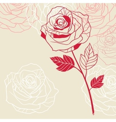 Floral background with pink roses vector