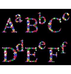 alphabet set 1 vector image