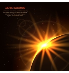Sunrise space background vector