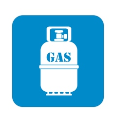 Camping gas bottle icon flat icon isolated vector