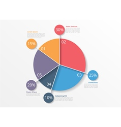 Pie chart template vector