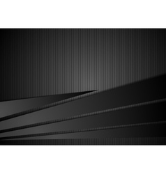 Abstract black striped corporate background vector image vector image