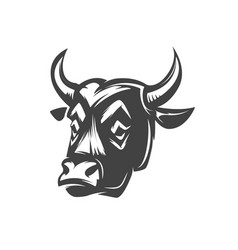 bull head isolated on white background vector image