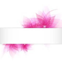 Card With Abstract Flowers vector image