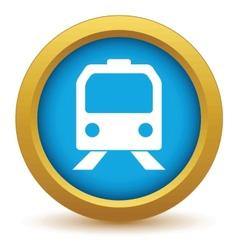 Gold train icon vector image