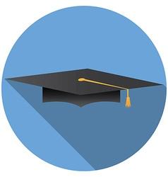Graduation cap icon v vector