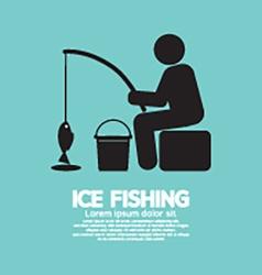 Ice Fishing Graphic Symbol vector image