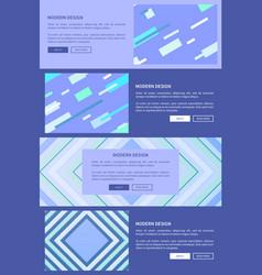 modern design purple set on vector image vector image