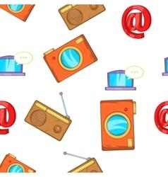 News pattern cartoon style vector
