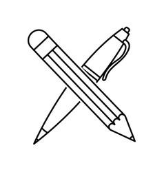 Pencil and pen design vector