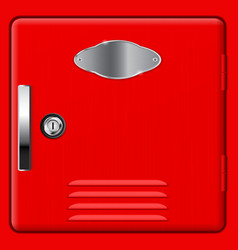 personal storage box modern red safe vector image