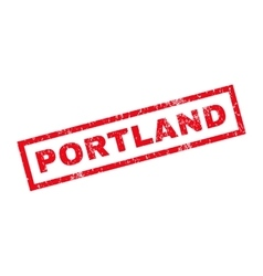 Portland rubber stamp vector