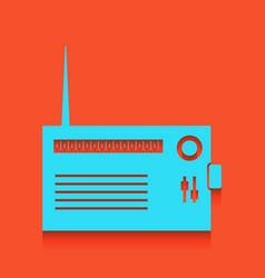 Radio sign whitish icon on vector