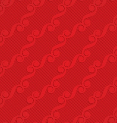 Red diagonal monogram on checkered background vector image