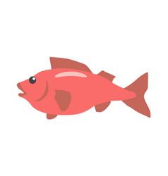 red fish cartoon flat vector image vector image