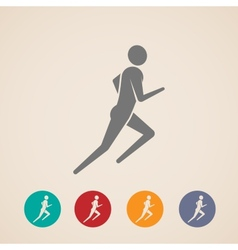 running or jogging man icons vector image