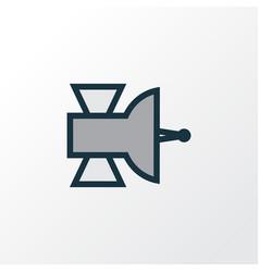 satellite colorful outline symbol premium quality vector image vector image