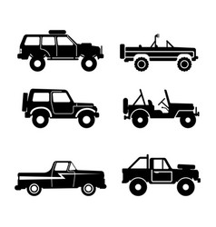 set off-road vehicle vector image vector image