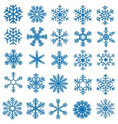 Snowflake Set vector image vector image