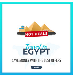 travel to egypt travel template banners for vector image vector image