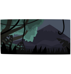 tropical jungle background at night beautiful vector image