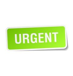Urgent green square sticker on white background vector