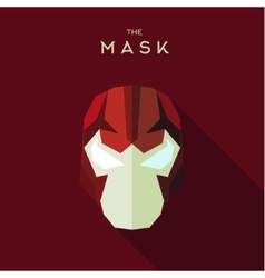 Villain in a red head mask the style of plane vector