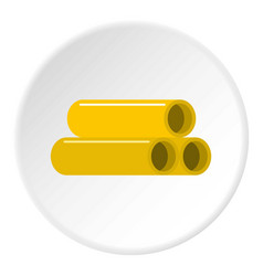 Yellow pipes icon circle vector