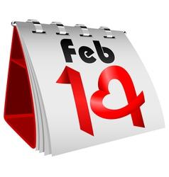 14 February Table Calendar vector image