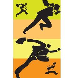 Businessmen in race vector image