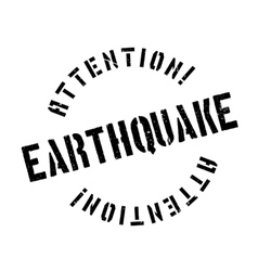 Earthquake rubber stamp vector