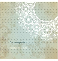 Vintage invitation card on grunge background vector