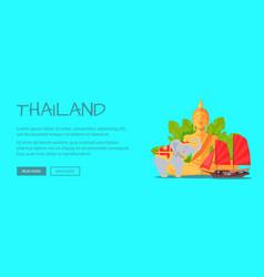 Thailand conceptual flat style web banner vector