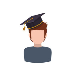 young student profile vector image