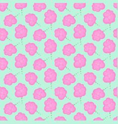 Cotton candy floss seamless pattern vector