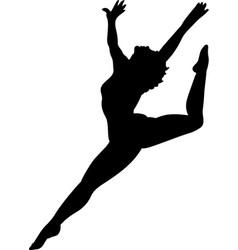 Mg00085 dancer silhouette vector