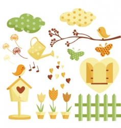 Garden illustrations vector