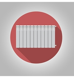 Flat icon for heating radiator vector