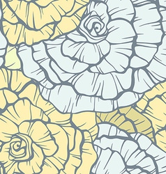 Seamless pattern with decorative roses vector